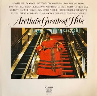 Aretha Franklin - Aretha's Greatest Hits (LP) (G-VG/G-VG)